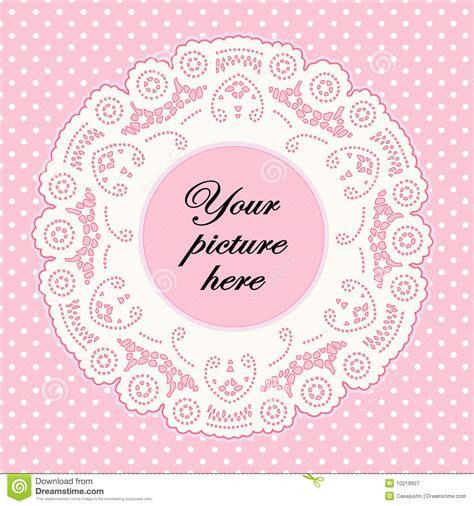 Abstrak Polkadot Butterfly frame het kant de baby het roze met de achtergrond