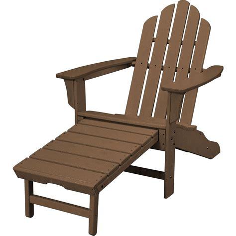 hanover teak  weather plastic outdoor adirondack chair  hide  ottoman hvlnate