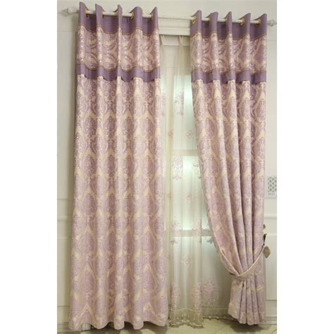 damask bedroom curtains pink purple damask jacquard poly cotton blend elegant