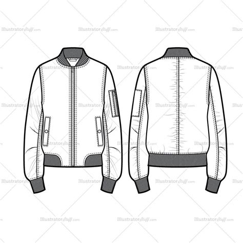 bomber jacket template unisex bomber jacket flat template illustrator stuff