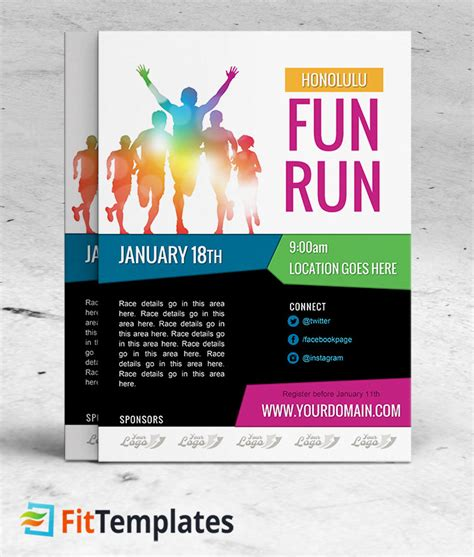 5k Race Flyers Yourweek 28b434eca25e Color Run Flyer Template