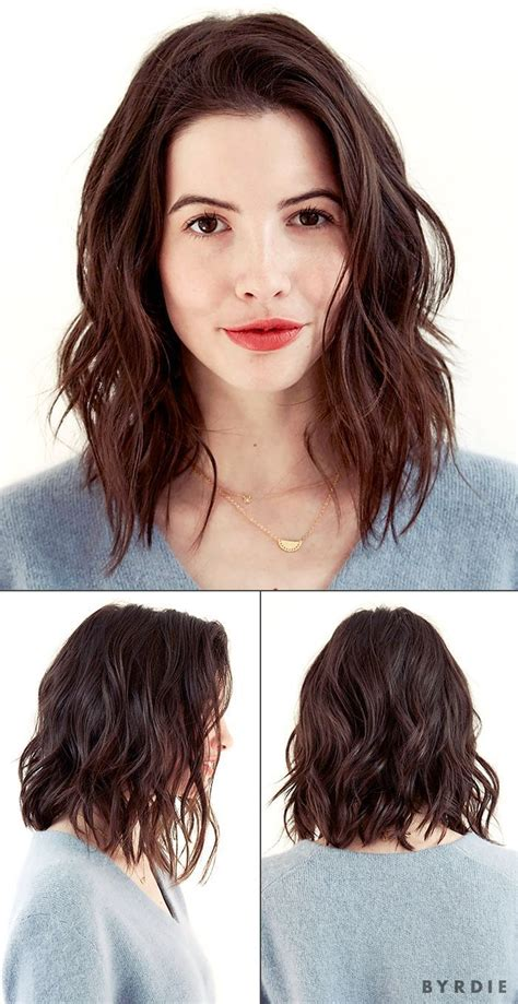 a long bob with wavy texture for fine hair lob with waves brown wavy bob hairstyles outstanding haircuts long hair