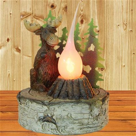 The Home Decor Store moose campfire nightlight bedroom furniture store