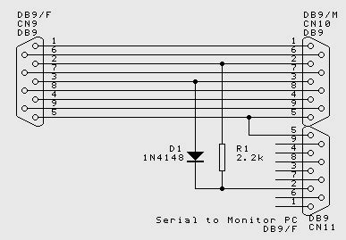 Gender Serial Konektor Db9 Connector 9 Pin 1 rs232 serial sniffer monitoring circuit embedded freaks