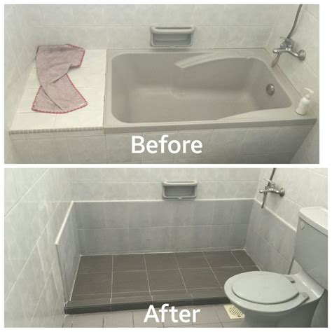 hdb bathtub bathtub removal works hacking toilet bathroom