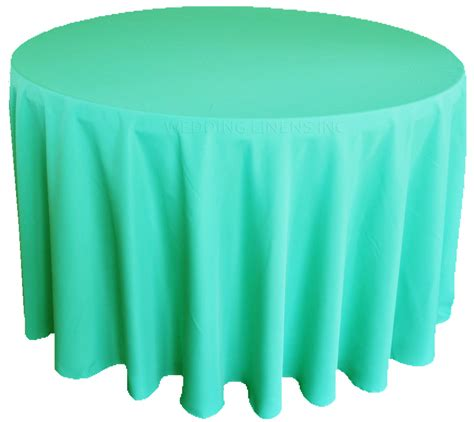 90 inch polyester tablecloth aqua blue