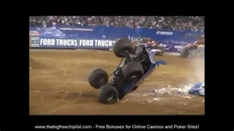 monster truck videos on youtube unbelievable monster truck crashes youtube