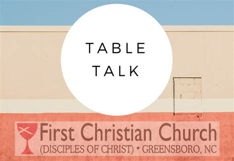 table talk at revolution burger christian church