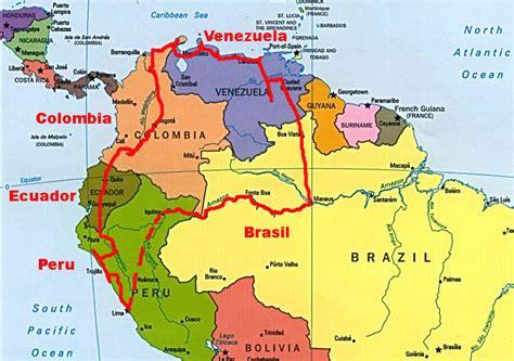 mapa de colombia bogot amrica del sur motorcycle review and recorrido por el norte de sudamerica