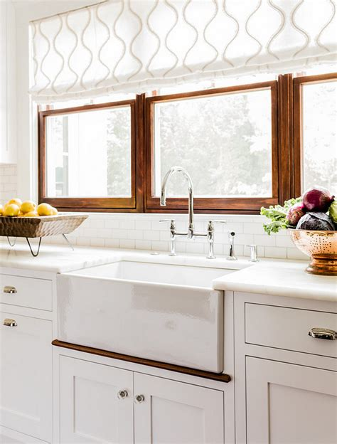 window treatment ideas for kitchens 6 farmhouse sinks to update your kitchen michiko