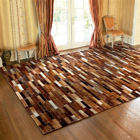 Patchwork Cowhide Leather Rugs - handmade leather patchwork rugs cow leather rugs cowhide