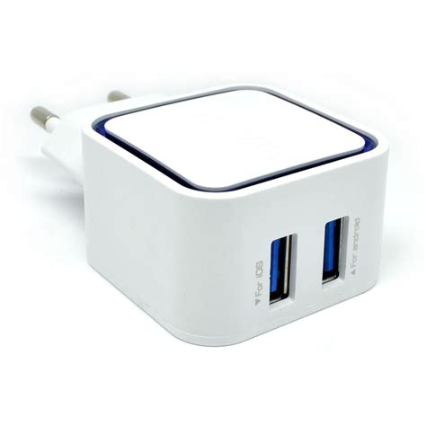 Vidvie 2 Usb Port Micro Charger Usb Cable Included Micro Plm301 vidvie dual usb charger 2 1a with micro usb cable vv 032 white jakartanotebook