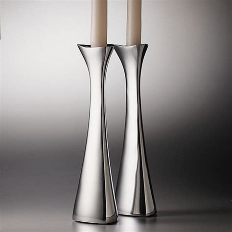 Contemporary Candle Holders Nambe Tri Corner Candlesticks Contemporary