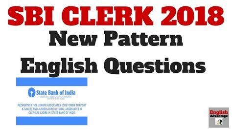 english pattern for sbi po sbi clerk po 2018 new pattern english questions sbi