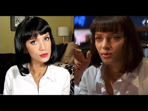 mia wallace tutorial pulp fiction uma thurman halloween costume tutorial youtube
