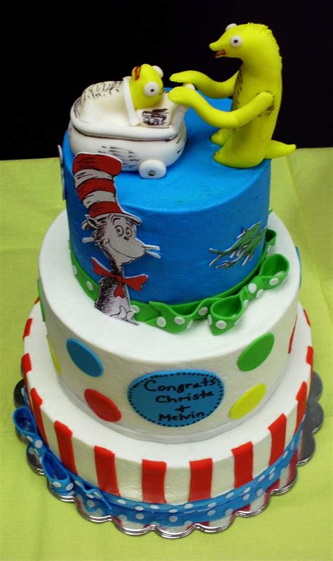 Cat Baby Hat cat in the hat babyshower cake cakecentral