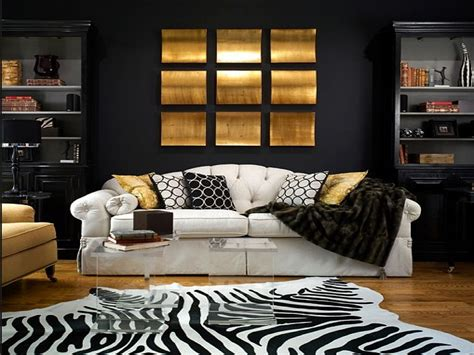 gold and living room 15 refined decorating ideas in glittering black and gold