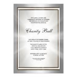 corporate invitations templates silver corporate event invitation template 5 quot x 7