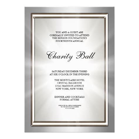 silver corporate event party invitation template 5 quot x 7