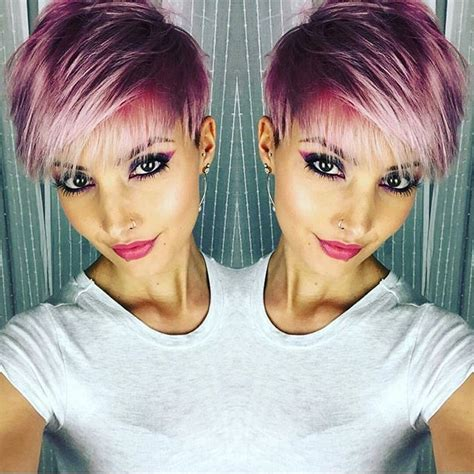 colorful short hair styles 25 best ideas about short hair colour on pinterest