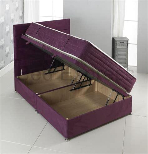 Luxury Ottoman Beds Luxury Ottoman Divan Storage Bed Single King Size Black Brown White Ebay