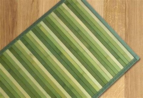 tappeti legno listelli tappeti in bamboo per arredare
