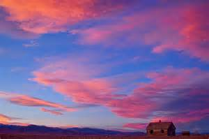 Big House Plans little house on prairie with big colorful colorado sunset