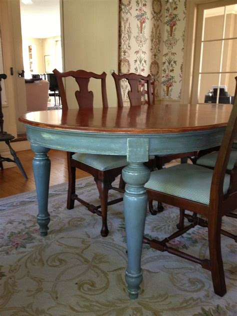 Chalk Paint Dining Room Table Dining Room Table Painted With Sloan Chalk Paint In A Custom Blue Duck Egg Blue