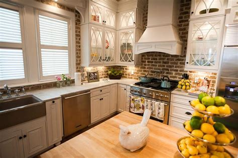 faux brick backsplash in kitchen kitchen brick backsplashes for warm and inviting cooking