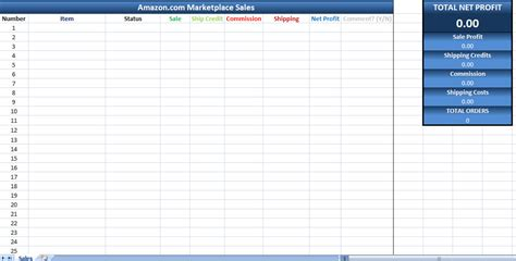 Amazon Sales Tracking Excel Template Amazon Marketplace Sales Tracking Sales Tracking Template