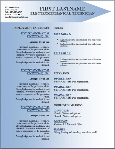 Cv Templates For Free Free Cv Resume Templates 142 To 148 Free Cv Template Dot Org