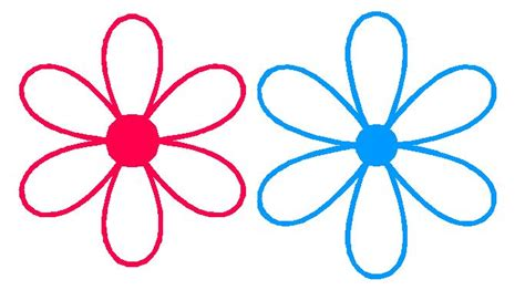 flower template with 6 petals 6 petal flower template clipart best