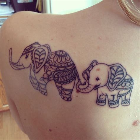 tattoo baby family elephant tattoo mother and son initials tattoos