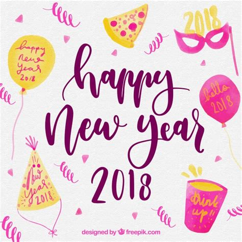 new year elements vector free background with new year s elements vector free