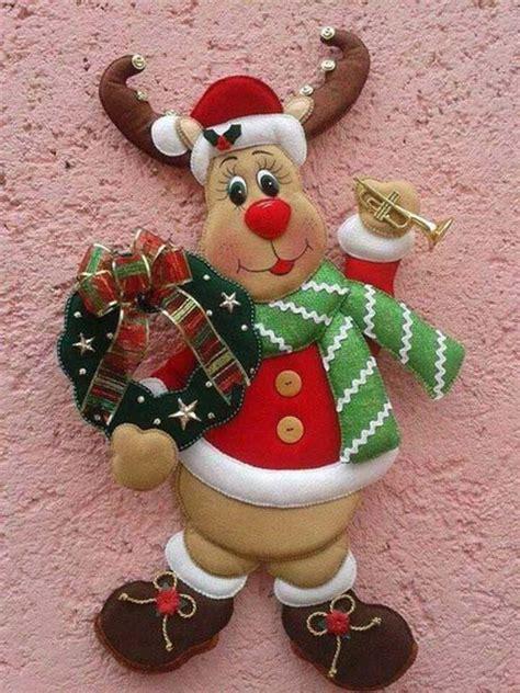 imagenes navideñas en fieltro patrones para hacer figuras navide 241 as en fieltro