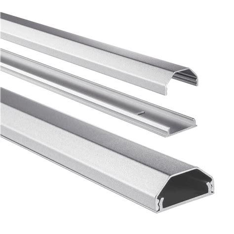 Hama Kabelkanal Alu (Aluminium, eckig, 110 x 3,3 x 1,7 cm