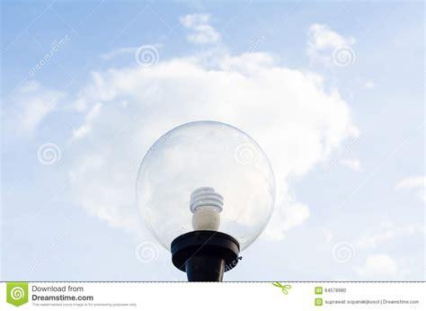 blue sky light bulb app bulb light on cloud stock photo image 64578980