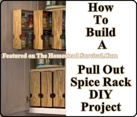 how to make spice racks for kitchen cabinets build your own pull out spice racks the homestead