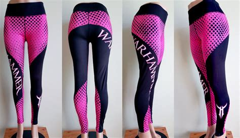 Blackpink Hw Blue s quot matrix quot legging high waisted pink and black