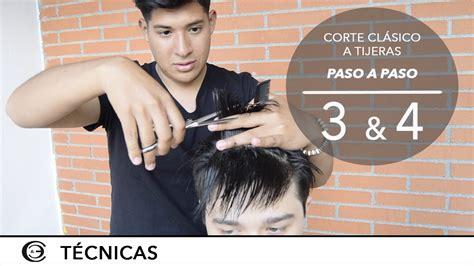 corte de pelo con tijera para caballero corte de pelo a tijeras paso a paso 3 y 4a tijera