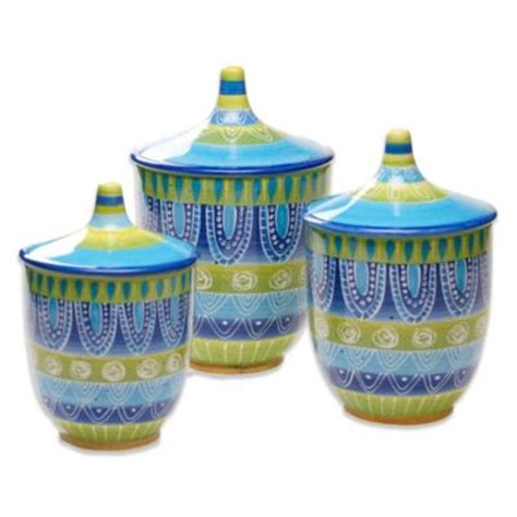 Buy Certified International Bistro Canister Set Of 4 Bed Bath And Beyond Canister Sets