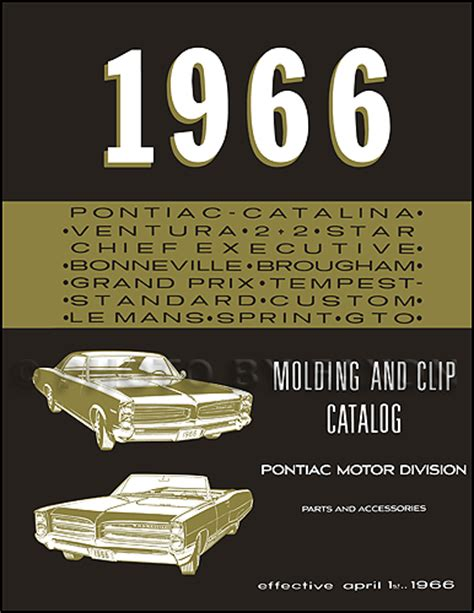 1966 pontiac owner s manual reprint