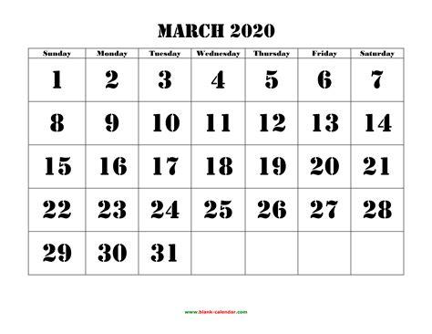 editable march  calendar
