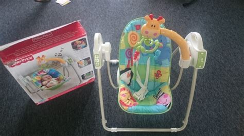 fisher price rainforest open top take along baby swing fisher price open top take along swing for sale in