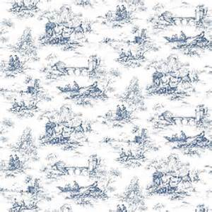 French Blue Upholstery Fabric Thibaut Toile Portfolio Petite Toile Wallpaper Alexander