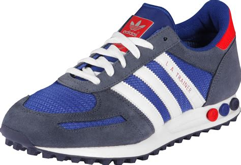 adidas sneaker trainers adidas la trainer shoes blue white