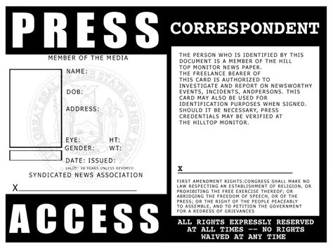press pass template free press id template by bobbyboggs182 on deviantart
