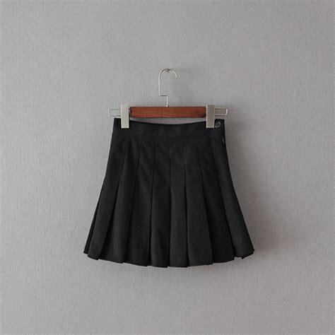 woolen high waist tennis skirt black 183 storeunic 183