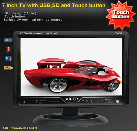 Tv Ondash Centrum Slim Usb Sd Mp5 7 inch tft lcd tv with touch button usb sd car mp5 player