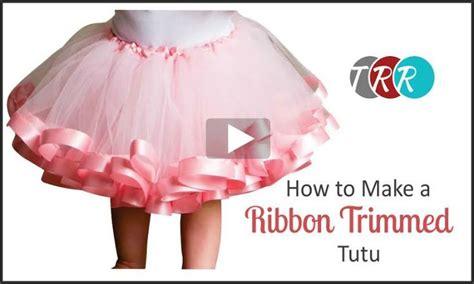 youtube tutorial tutu how to make a ribbon trimmed tutu youtube thursday the
